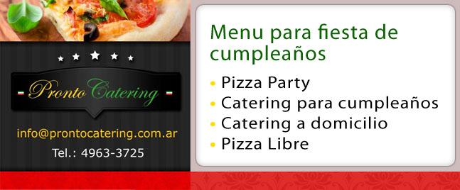 Eventos en Familia Menu De Pizzas Zona Norte Escobar